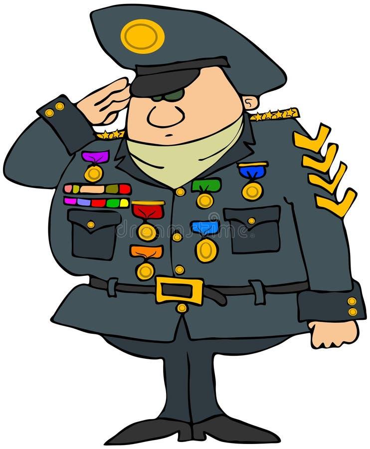 Verfraaide Militaire Mens vector illustratie