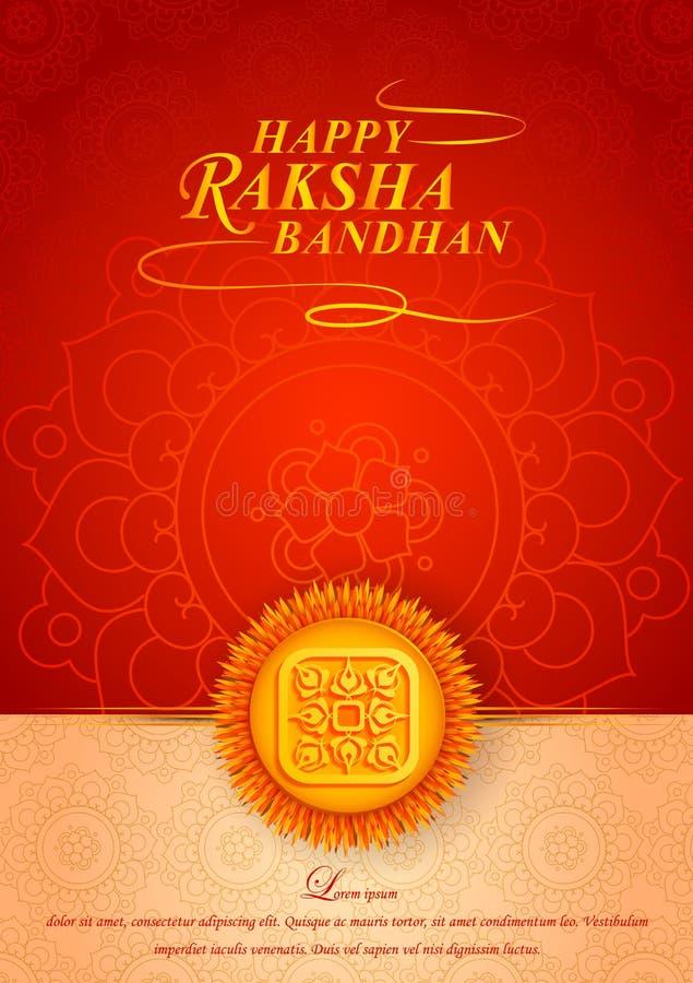 Verfraaide rakhi voor Indisch festival Raksha Bandhan stock illustratie