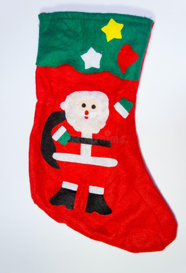 Verfraaide rood half gebruikt voor Kerstmis stock fotografie