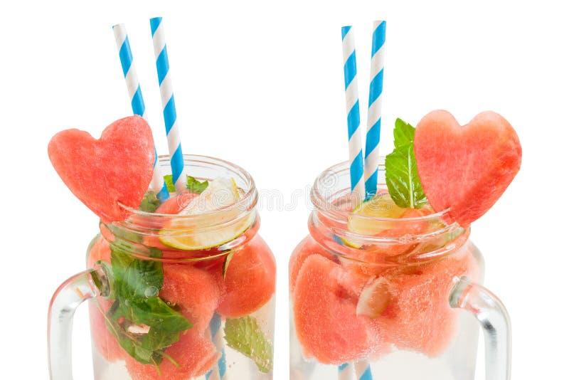 Verfraaide watermeloendranken royalty-vrije stock afbeelding