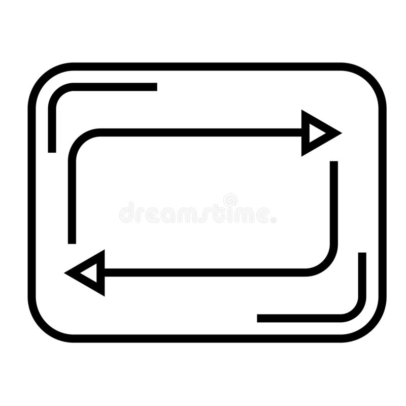 Verfris het vectordieteken van het knooppictogram en het symbool op witte achtergrond wordt geïsoleerd, verfrist het concept van  vector illustratie