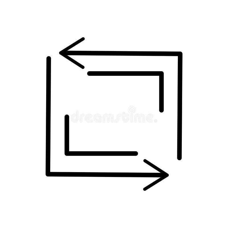 Verfris het vectordieteken van het knooppictogram en het symbool op witte achtergrond wordt geïsoleerd, verfrist het concept van  royalty-vrije illustratie