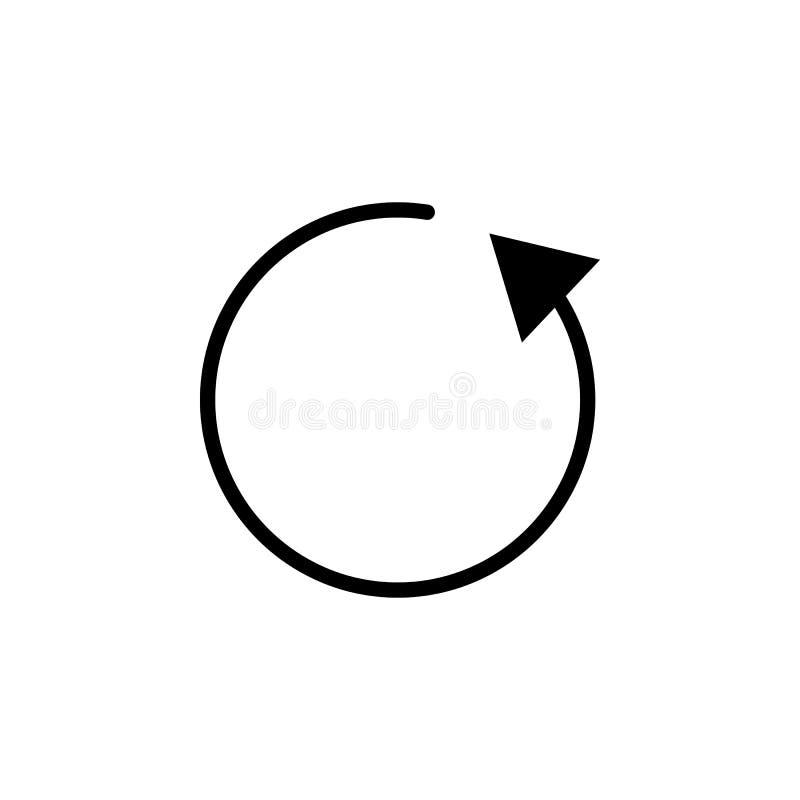 Verfris me, pijl, cirkelpictogram Kan voor Web, embleem, mobiele toepassing, UI, UX worden gebruikt stock illustratie