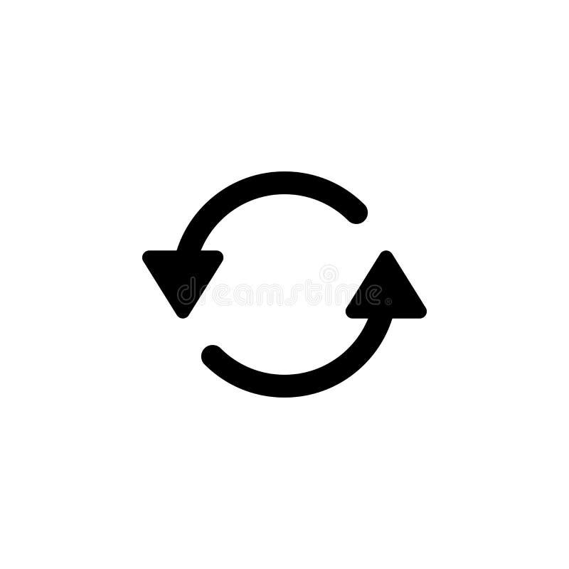 Verfris me, roteert het herladen pictogram De tekens en de symbolen kunnen voor Web, embleem, mobiele toepassing, UI, UX worden g royalty-vrije illustratie