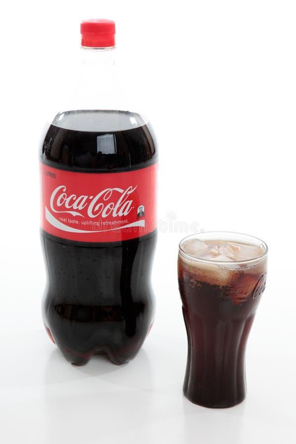Verfrissende Coca-cola stock afbeeldingen