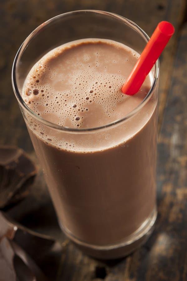 Verfrissende Heerlijke Chocolademelk stock afbeelding
