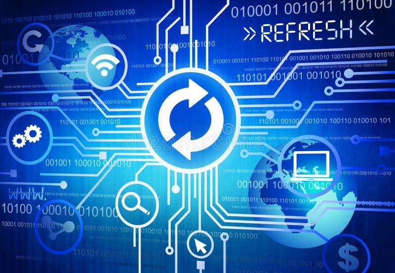 Verfrist het digitaal Geproduceerde Beeld van Concept stock illustratie