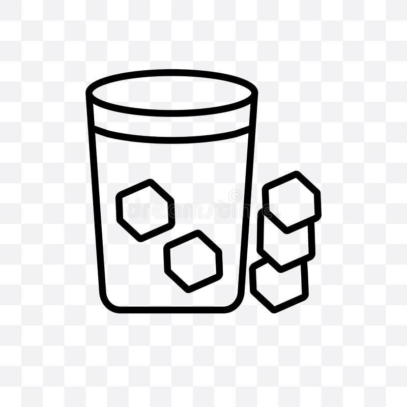 Verfrist koud drank vector lineair die pictogram op transparante achtergrond wordt geïsoleerd, kan het Verfrissende koude concept stock illustratie