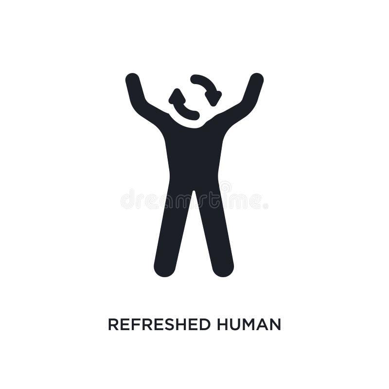 verfrist mens geïsoleerd pictogram eenvoudige elementenillustratie van de pictogrammen van het gevoelsconcept het verfriste mense stock illustratie