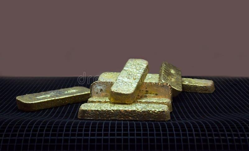 Verga d'oro immagine stock libera da diritti