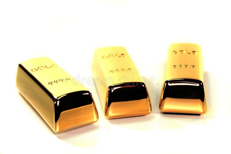 Verga d'oro tre immagini stock libere da diritti