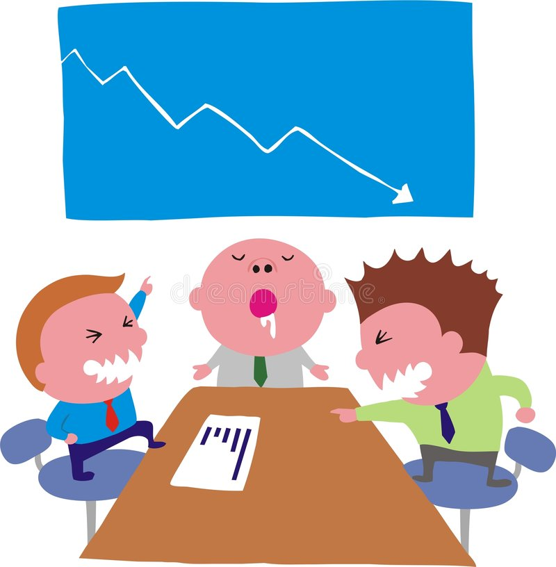 Vergadering stock illustratie