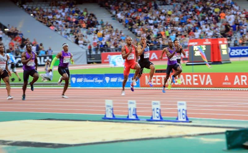 VERGADERING AREVA, Parijs IAAF Diamond League stock foto
