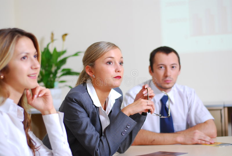 Vergadering in bureau stock fotografie