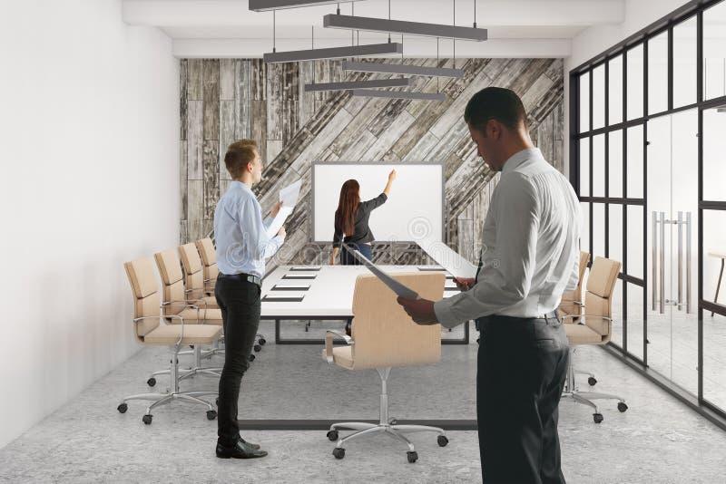 Vergadering en groepswerkconcept vector illustratie