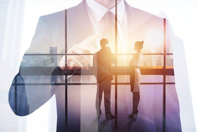 Vergadering en groepswerkconcept royalty-vrije illustratie