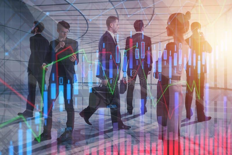 Vergadering, financiën en groepswerkconcept stock afbeelding