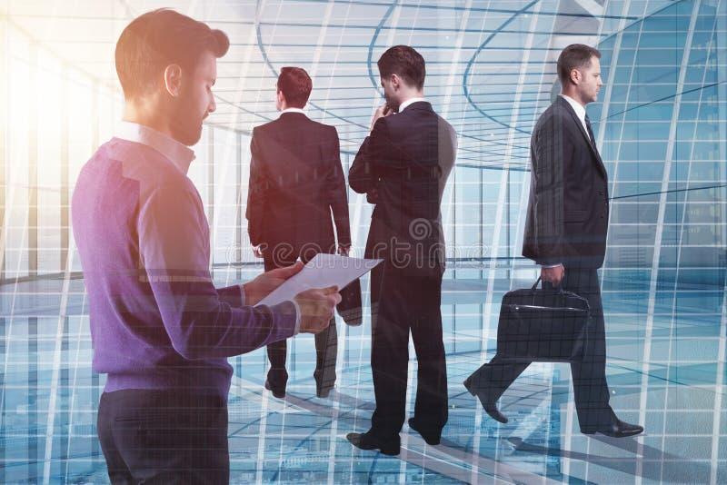 Vergadering, groepswerk en het werkconcept royalty-vrije stock afbeelding