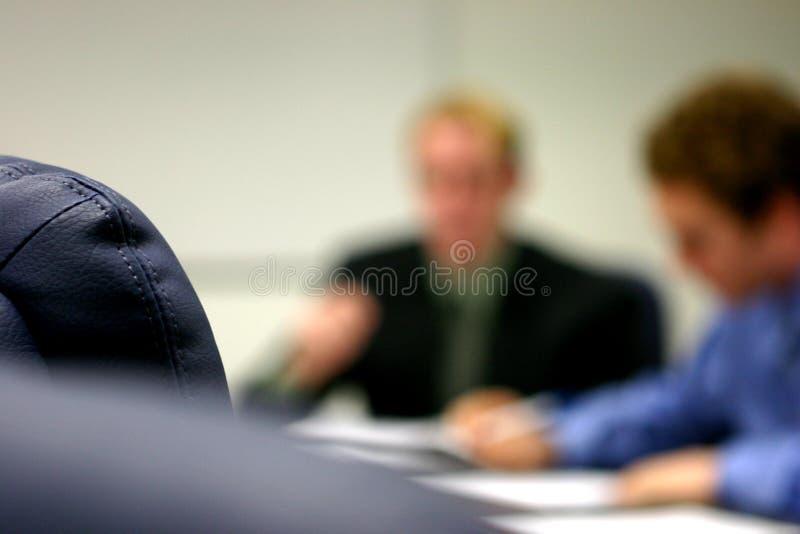 Vergadering in het bureau