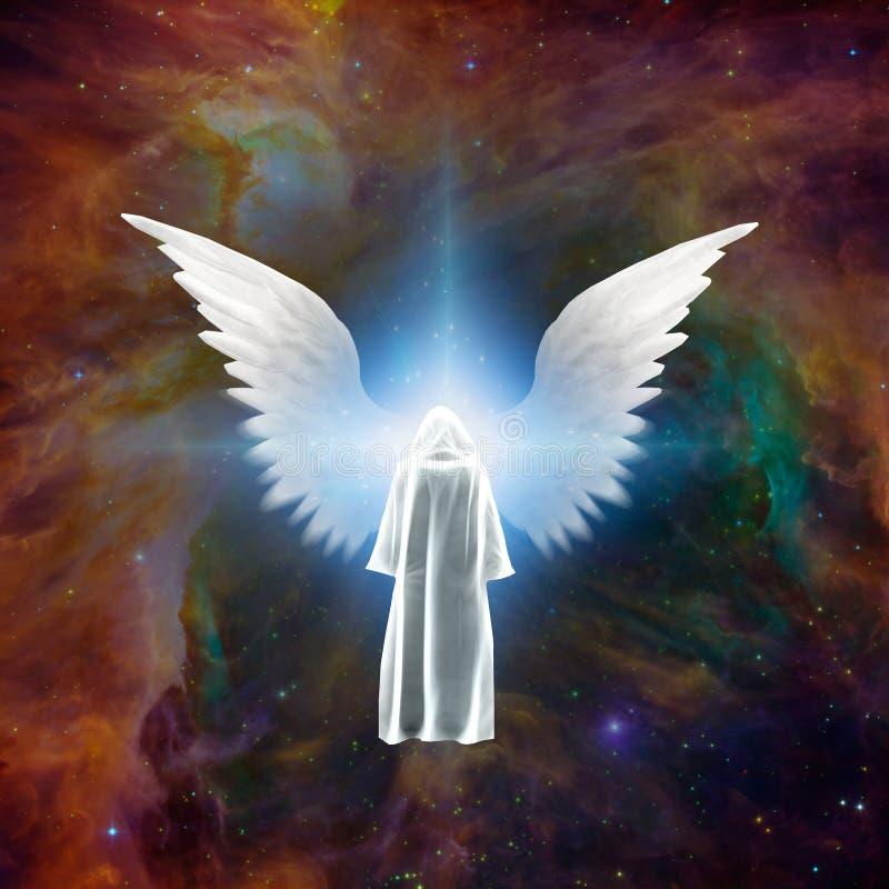 Vergadering met engel vector illustratie