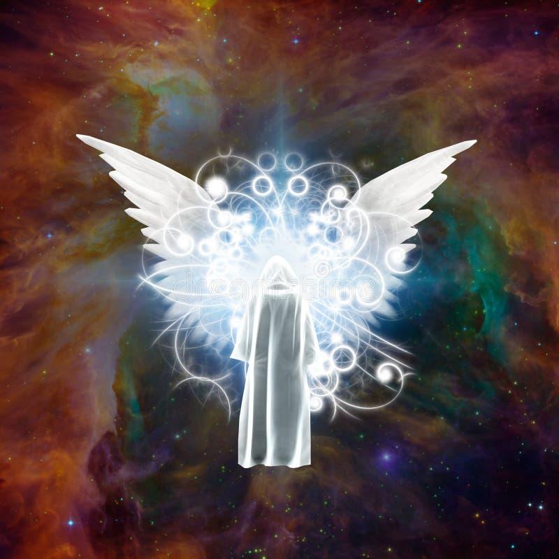 Vergadering met engel stock illustratie