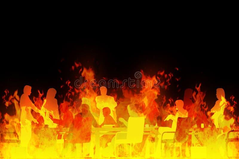 Vergadering van hel vector illustratie