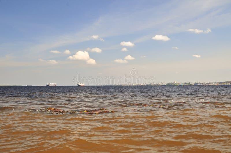 Vergadering van het Fenomeen van Wateren (Amazonië) stock foto