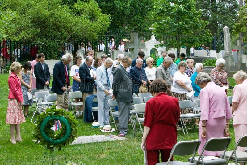 Vergadering van Peter Jefferson Society royalty-vrije stock foto's