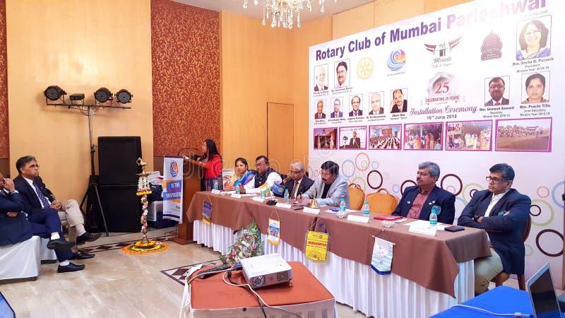 Vergadering van Rotary Club stock afbeelding