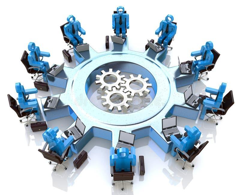 Vergadering voor groepswerk stock illustratie