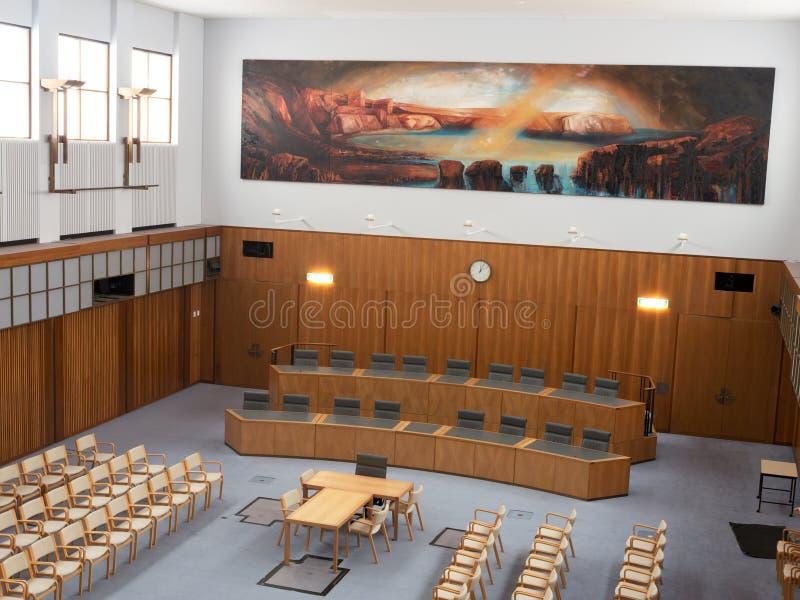 Vergaderzaal in het Parlement van Australië royalty-vrije stock afbeeldingen