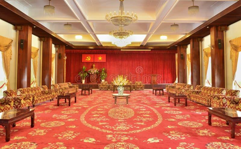 Vergaderzaal in Onafhankelijkheidspaleis stock foto