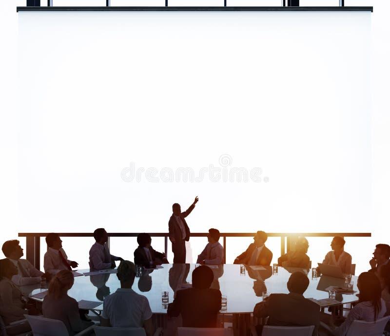 Vergaderzaal van de Commerciële het Concept Vergaderingsleiding stock afbeelding