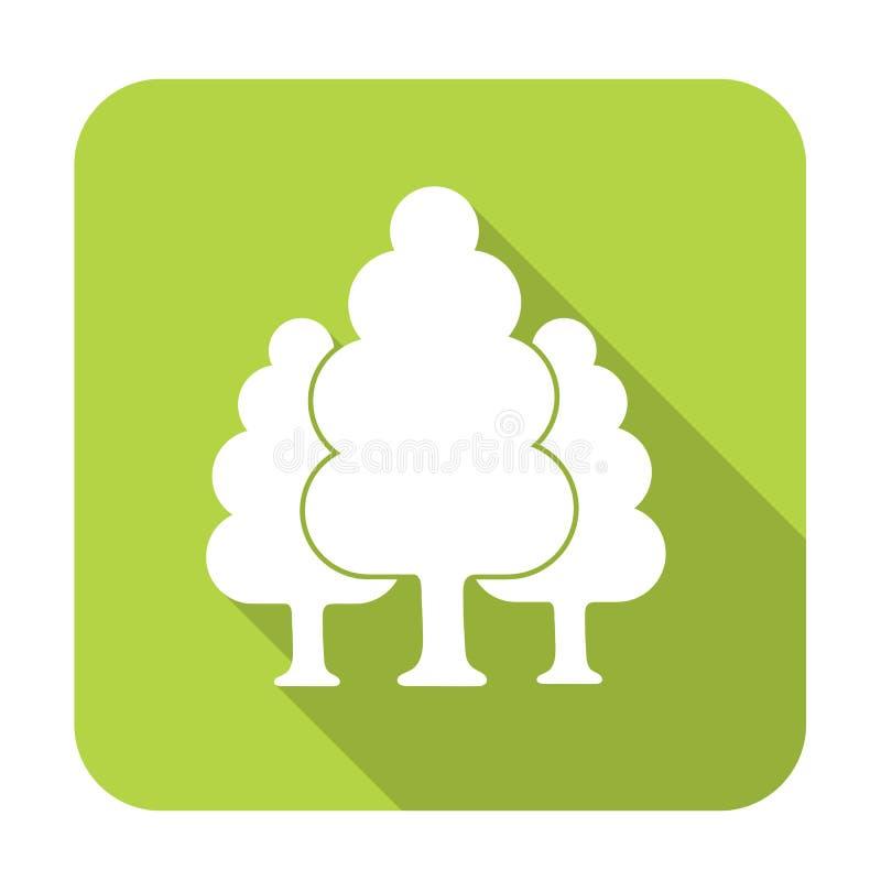 Vergankelijk bospictogram vector illustratie