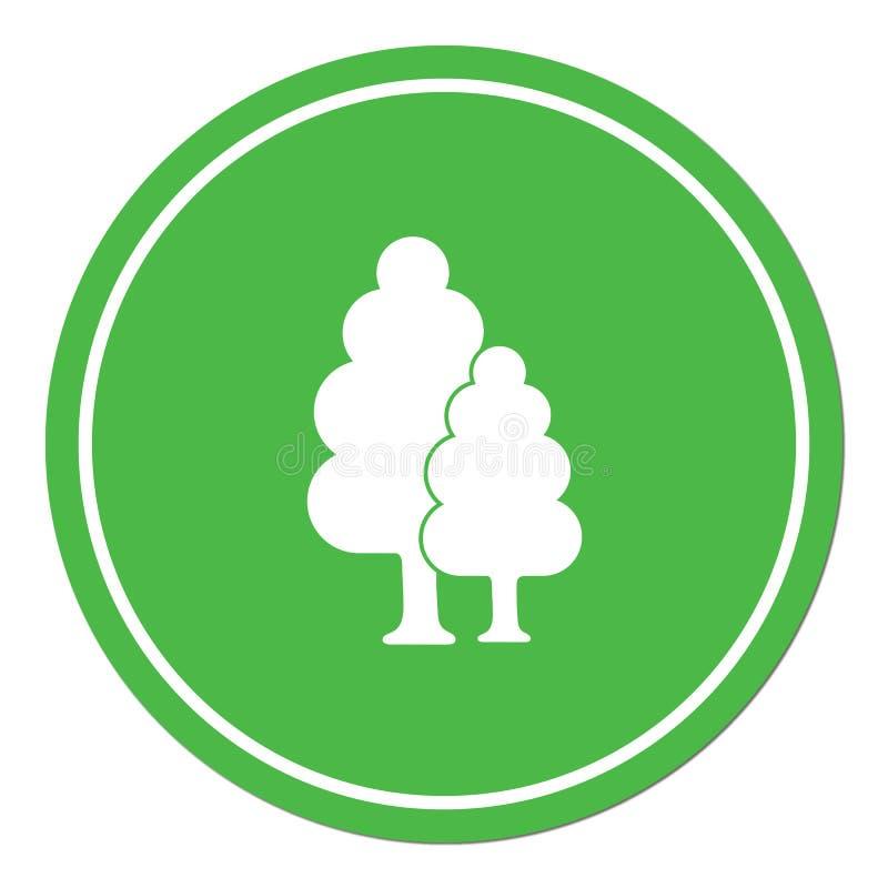 Vergankelijk bospictogram stock illustratie