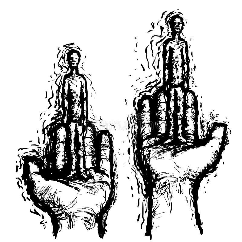 Vergelijk mensen (vector) stock illustratie