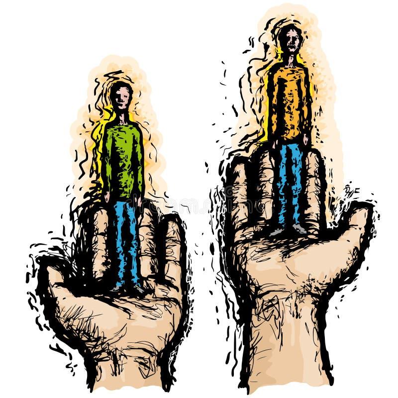 Vergelijk mensen (vector) royalty-vrije illustratie