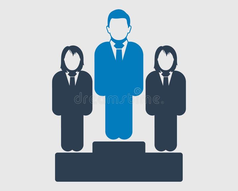 Vergelijk tussen mannelijk en vrouwelijk pictogram stock illustratie