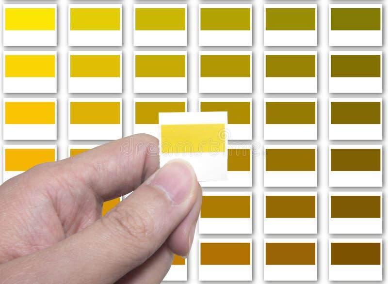 Vergelijk uw kleur stock afbeeldingen