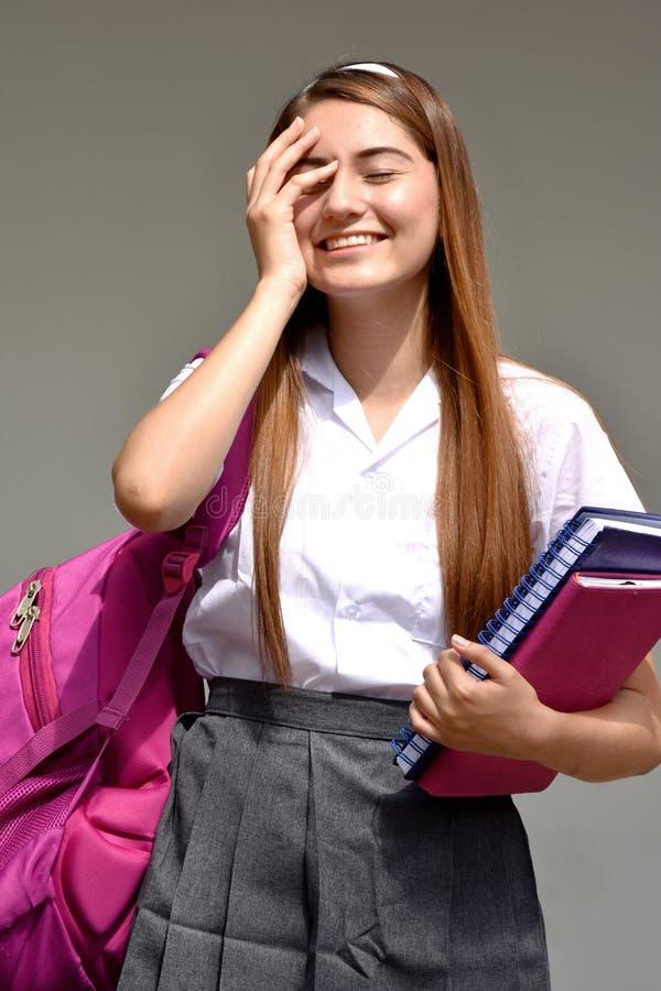 Vergessliche Studentin stockfotografie