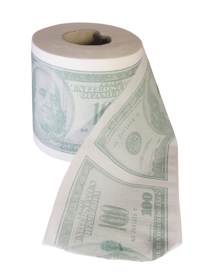 Vergeuden Sie nicht Ihr Geld stockbild
