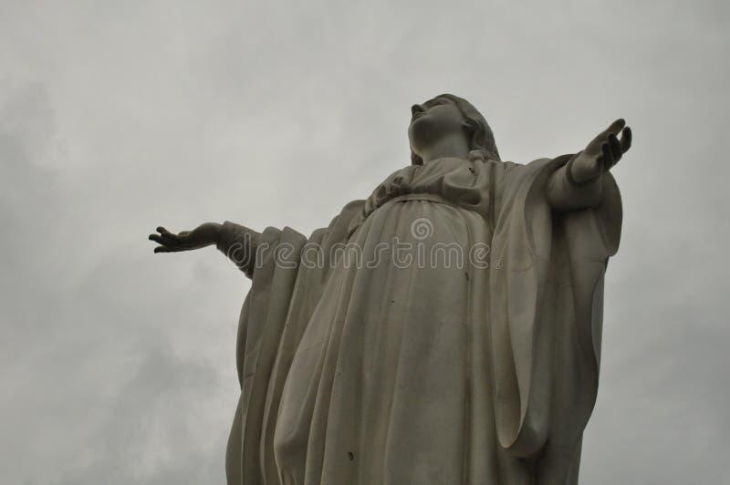 Vergine a Cerro San Cristobal a Santiago immagine stock libera da diritti