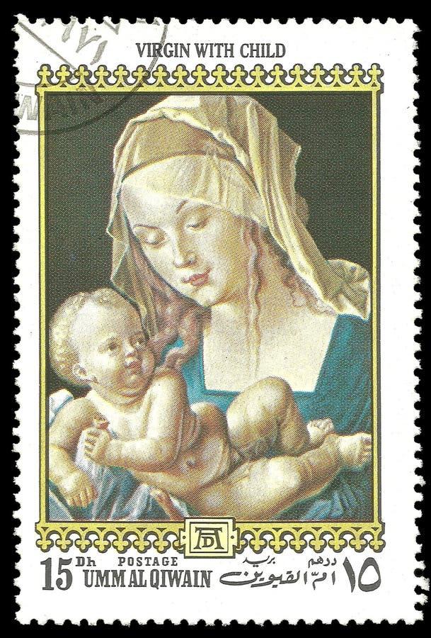 Vergine della pittura con il bambino fotografia stock libera da diritti