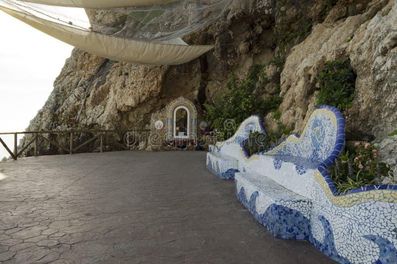 Vergine di Carmen, Rincon de la Victoria, Malaga Spagna fotografia stock