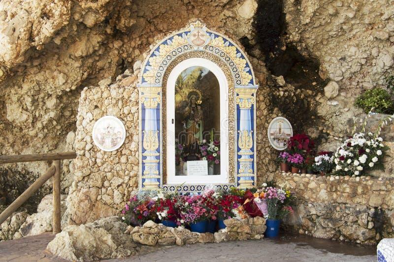 Vergine di Carmen, Rincon de la Victoria, Malaga Spagna fotografia stock libera da diritti