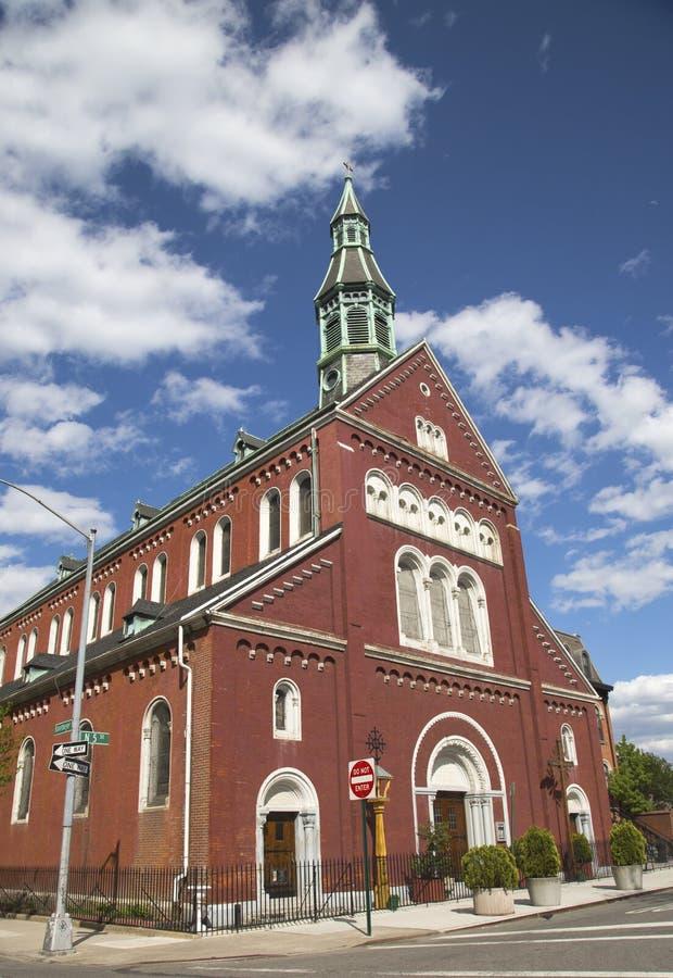 Vergine Maria benedetto della chiesa di parrocchia di annuncio nella sezione di Williamsburg a Brooklyn fotografia stock libera da diritti