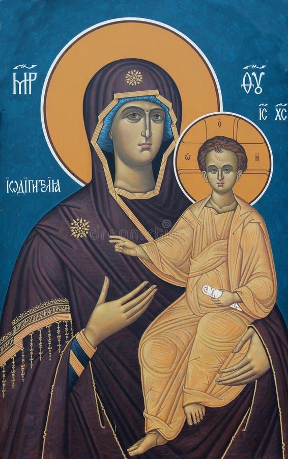 Vergine Maria con Gesù immagine stock libera da diritti