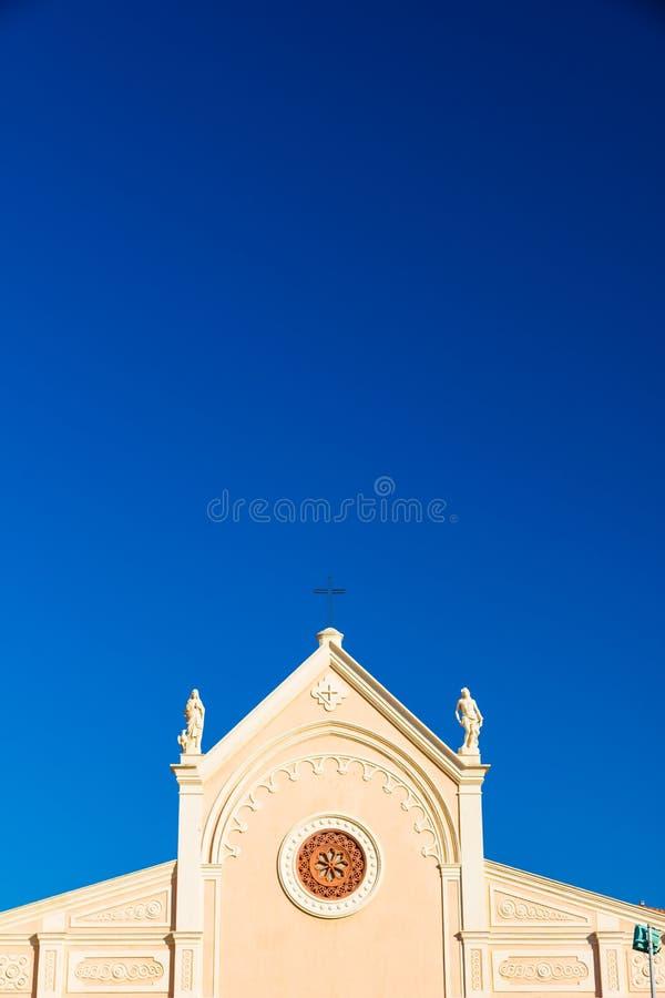 Vergine Mary Church di Nativita Beata Vergine Maria Nativity Blessed in Portoferraio, Italia fotografie stock