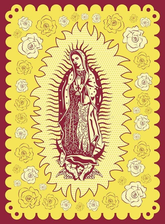 Vergine messicano di Guadalupe - manifesto d'annata royalty illustrazione gratis