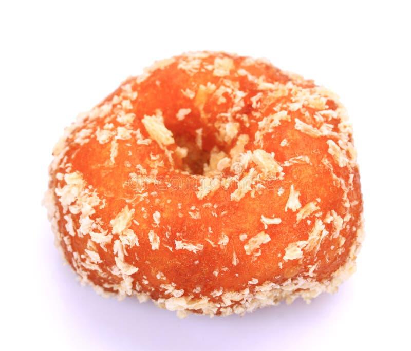 Verglaasd Autumn Pumpkin Donuts royalty-vrije stock fotografie